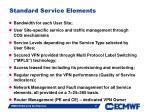 standard service elements