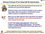 defining the scope of your global sap bi implementation