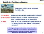 global project risk mitigation strategies