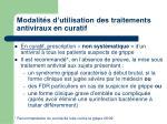 modalit s d utilisation des traitements antiviraux en curatif