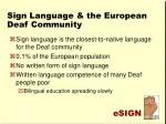 sign language the european deaf community