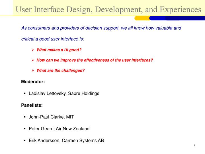 user interface design development and experiences n.