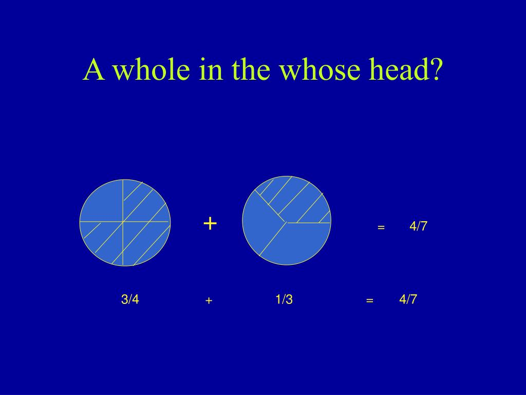 A whole in the whose head?