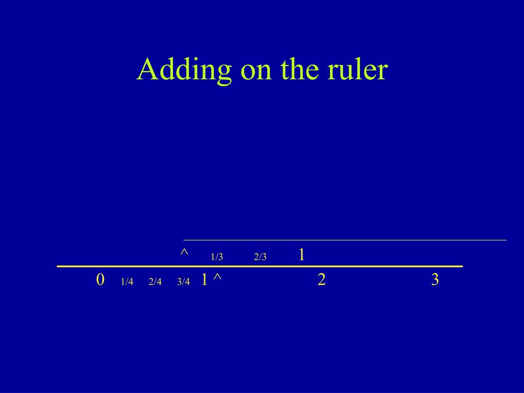 Adding on the ruler