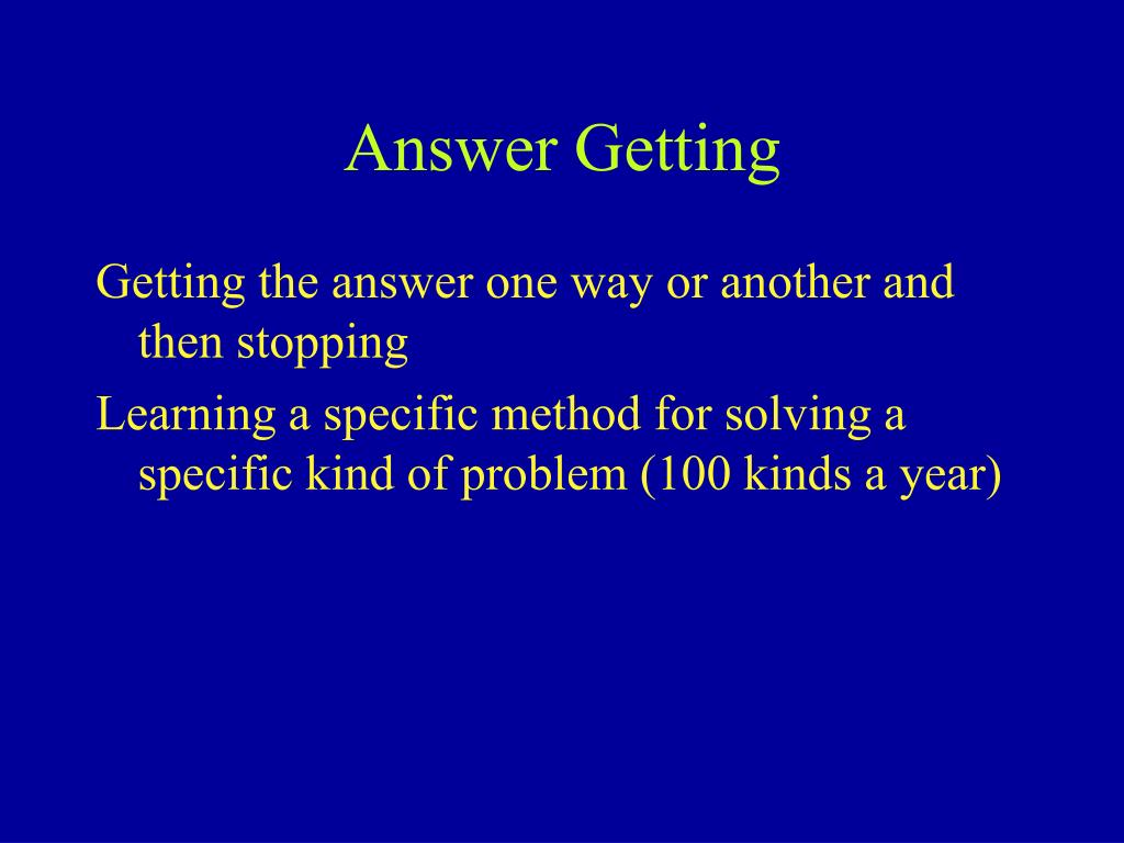 Answer Getting