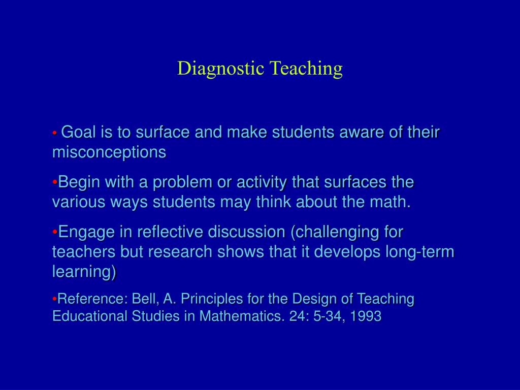 Diagnostic Teaching