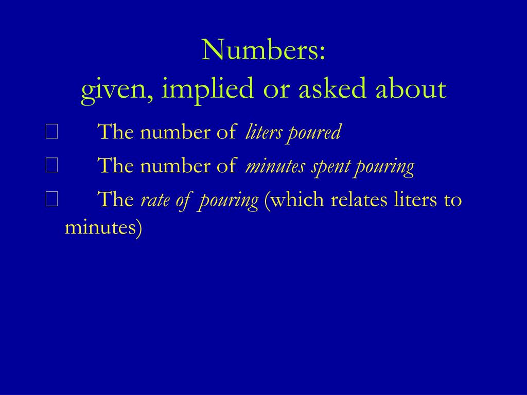 Numbers: