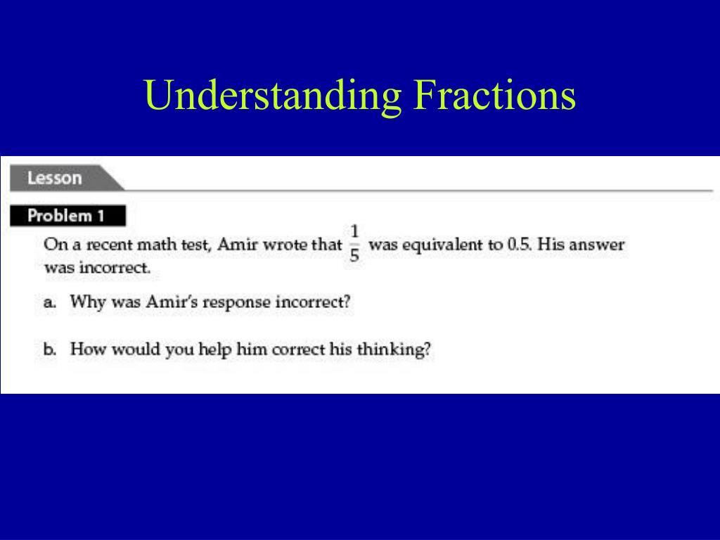 Understanding Fractions