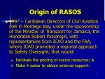 origin of rasos