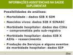 informa es assistenciais na sa de suplementar1