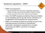 explosives regulations emps