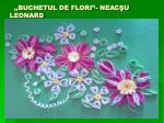 buchetul de flori neac u leonard