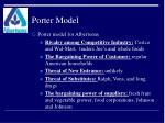 porter model