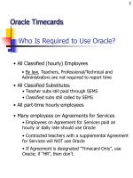 who is required to use oracle