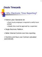 why electronic time reporting