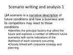 scenario writing and analysis 1