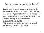 scenario writing and analysis 2