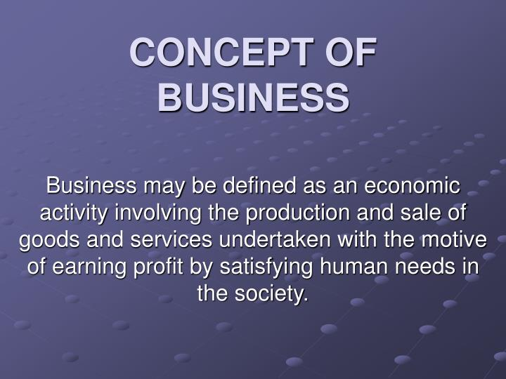 Concept of business