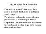 la perspectiva forense