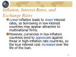 inflation interest rates and exchange rates