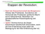 etappen der revolution