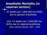 anesthetic mortality in cesarian section