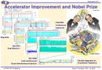 accelerator improvement and nobel prize
