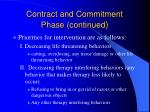 contract and commitment phase continued