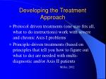 developing the treatment approach