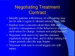 negotiating treatment contract