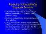 reducing vulnerability to negative emotion