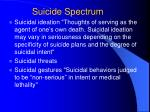 suicide spectrum