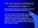the narcissistic perfectionist constellation case 1
