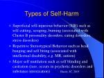 types of self harm