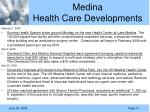 medina health care developments