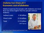diabetes fact sheet 2011 economic cost of diabetes