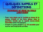 quelques rappels et definitions4