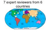 7 expert reviewers from 6 countries