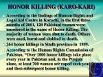 honor killing karo kari