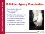 multi inter agency coordination