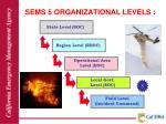 sems 5 organizational levels