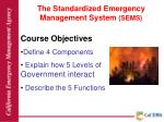 the standardized emergency management system sems