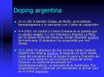 doping argentina1