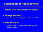 calculation of requirements