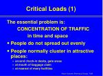 critical loads 1