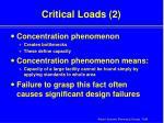 critical loads 2