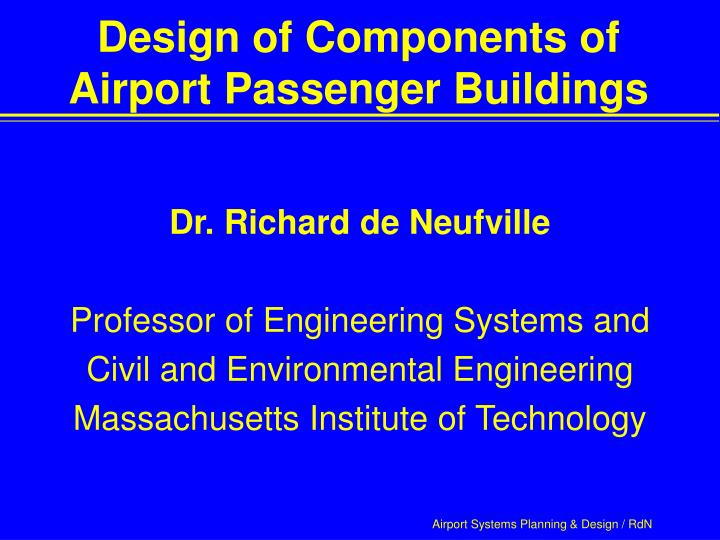 design of components of airport passenger buildings n.
