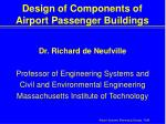 design of components of airport passenger buildings