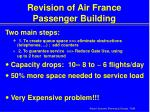 revision of air france passenger building