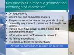 key principles in model agreement on exchange of information